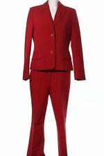 LAURA SCOTT Hosenanzug rot Streifenmuster Business-Look Damen Gr. DE 40 Anzug