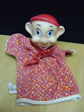 Vintage 1950's Walt Disney Dopey Hand Puppet Toy by Gund with Tag
