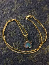 18k Gold Plated Unicorn Necklace 22 Inch