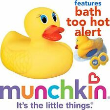 Munchkin Baby Safety Bath Too White Hot Yellow Ducky Toy Temperature Indicator
