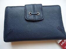 Ladies Mundi Lace Cardex Genuine Leather Wallet, Navy