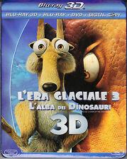 Blu-ray 3D + Blu-ray 2D + Dvd «L'ERA GLACIALE 3 ♥ L'ALBA DEI DINOSAURI» 2009