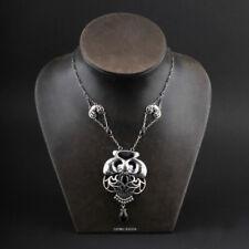 GEORG JENSEN Sterling Pendant No 1 w. Black Agate. Anniversary 1904-2014, Silver