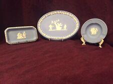 Wedgwood Jasperware Blue Laurel Tray Plate Neoclassical Display Vintage Lot