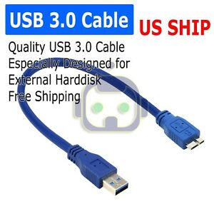 3.0 USB Cord Cable For SEAGATE Backup Plus Slim Portable External Hard Drive HDD
