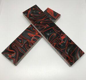 "KIRINITE: Lava Flow 1/8"" 6"" x 1.5"" Scales for Wood Working, Knife Making"