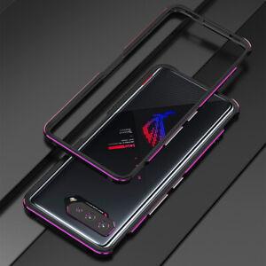 For Asus ROG Phone 5 / 5 Pro Metal Aluminum Bumper Frame Back case + lens Film