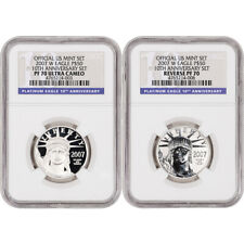 2007-W American Platinum Eagle Two Coin Proof Set - NGC PF70