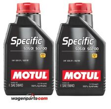 Aceite Motul Specific VW Audi Seat Skoda 50501 50200 50500 5W40, pack 2 litros