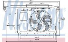 NISSENS Ventilador, refrigeración del motor PEUGEOT 206 206+ 85007