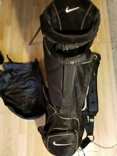 Nike sport lite golf bag with golf stands carry straps and rain cover