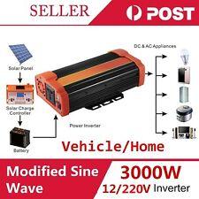 SINE WAVE 3000W MAX 6000W 12-220V WATT POWER INVERTER CAR CARAVAN CAMPING J