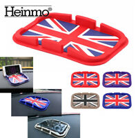 Red Union Jack Anti-Slip mat Silicone Mat Mobile Phone Pad For Mini Cooper S ONE
