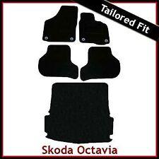 Skoda Octavia Mk2 Tailored Fitted Carpet Car+Boot Mats (2004 2005...2013) Round