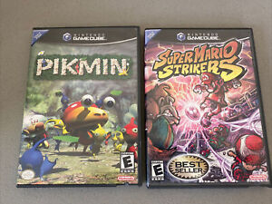 Super MARIO STRIKERS And PIKMIN Cover Art Case only NO GAMEs Nintendo Gamecube
