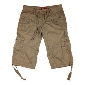 Unionbay Tan Khaki Cargo Bermuda Shorts  Women Girl's Junior's Size 7 29x14.5