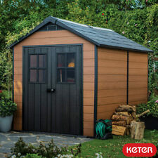 """Keter Garden Patio Plastic Shed With Double Doors 7ft 6"""" x 11ft (2.3 x 3.5m)"""