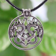 Norse Viking Borre Double Dragon Necklace