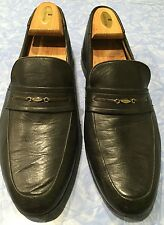 Men's BALLY Bendigo Switzerland Slip-on Loafer Dress Shoes Sz 11 D Leather Black