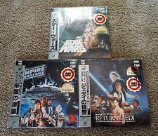 Star Wars Trilogy ( ANH, ESB, ROTJ) 1986 FULLSCREEN  LD's from Japan w /Obi's