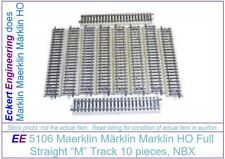 EE 5106 FR Marklin HO 5106 M Full Straight Track Pack of 10 without Box NBX Fair