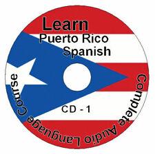 (8 CD Paquet) Apprendre Comment À Speak Puerto Rico Espagnol Langue Facile /
