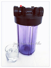"""Big FAT 10"""" Jumbo Size Clear Whole House Water Filter System(1"""" Port) No Bracket"""