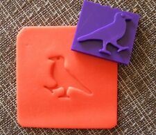 Raven stamp for soap polymer clay and pottery