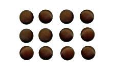 12 pulsanti 11 mm marrone Emisfero