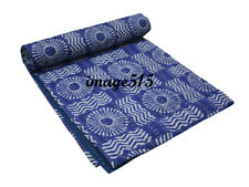 Vintage Handmade Kantha Floral Bed Spread Throw Quilt King Size * FREE POSTAGE*