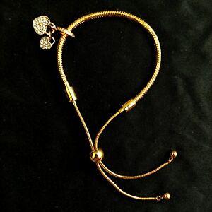 Locks Of Love Charm Golden Bracelet