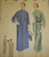 Vtg 50s Vogue 7940 Pattern CHEMISE Dress and Coat