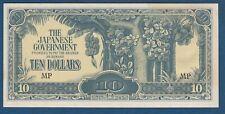 Malaya Malaysia Japanese Occupation WW2, 10 Dollars, The Japanese Government !