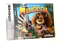 "GBA ""Madagascar"" Nintendo Game Boy Advance instruction booklet manual Gameboy"