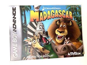 "GBA ""Madagascar"" Nintendo Game Boy Advance instruction booklet manual Gameboy"