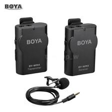 BOYA BY-WM4 2.4GHz Lavalier Lapel Mic Microphone for Smartphone Camera PC Tablet