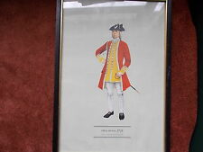 MILITARY FRAMED PRINT  BY P H SMITHERMAN (hugh evelyn print)(officer 6th foot)