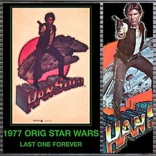 ORIG 1977 vTg Han Solo story Millenium Falcon Star Wars t-Shirt Iron-On Transfer