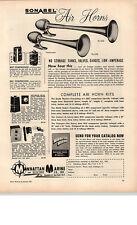 1959 PAPER AD Sonabel Motor Boat Air Horns PL-540 PL- 450 Manhattan Marine