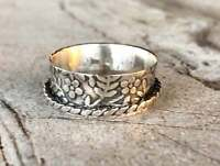 Solid 925 Sterling Silver Spinner Ring Meditation Ring Anxiety Ring, Size SR699