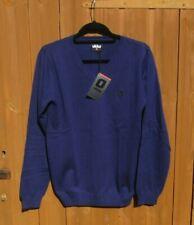 "Mens Ukko Jumper Golf V Neck Jumper, Casual Sweater Small 38"" Chest Lilac BNWTs"