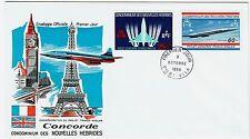 FDC-SPERSONIC CONCORDE-AIR FRANCE-PREMIER VOL-NOUVELLES HÉBRYDES-09/10/1968