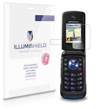 iLLumiShield Phone Screen Protector w Anti-Bubble/Print 3x for Motorola i576