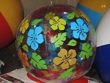 Transparent mit bunten Blumen Wasserball inflatable Pool Toy 75cm Flach
