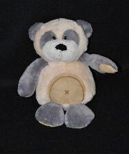Peluche doudou ours ANIMA La griffe tendresse beige gris blanc 15 cm NEUF