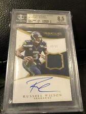 2015 Russell Wilson Immaculate Auto Patch 5/25 Seahawks BGS Graded Sealed