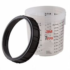 3M 16001 tazza rigida con ghiera per tazze PPS monouso 600 ml verniciatura 1 pz