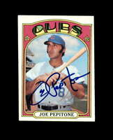 Joe Pepitone Signed 1972 Topps Chicago Cubs Autograph