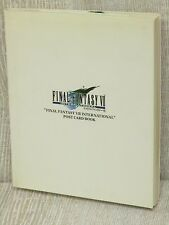 FINAL FANTASY VII 7 International Postcard Book w/Sticker Art Illustration DC44