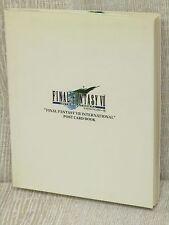 FINAL FANTASY VII 7 International Postcard Book w/Sticker Art Illustration DC44*